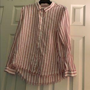 Casual linen blend shirt. XL